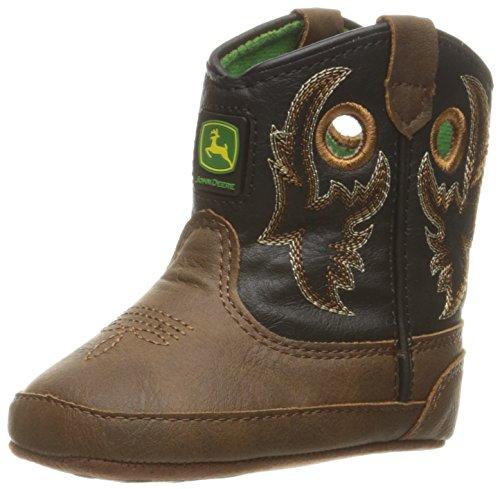 John Deere Bab Brn Dist W/Blk Shaft PO Pull-On Boot (John Deere Baby-stiefel)