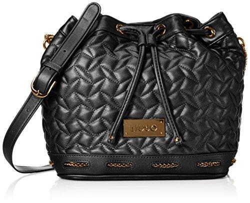 Liu Jo Damen Basket Bag Mantide Tornistertaschen, Schwarz (Black 22222), 25 x 26 x 15 cm