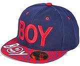 Belsen Kind Hip-Hop Leopard BOY Cap Baseball Kappe Hut (Marine)