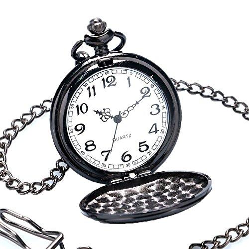 629b83907520 BestFire Pocket Watch Vintage Quartz Pocket Watch Classical Sculptured Fob  Pocket Watch with Short Chain for Men Women -- Gift Box for Birthday  Anniversary ...