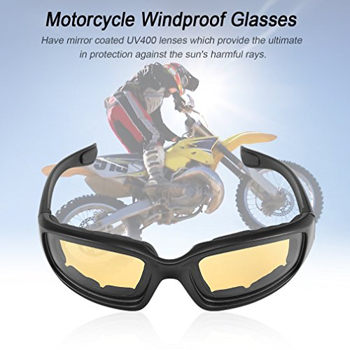 e2a68f6798bae Yxaomite Motorcycle Glasses Biker Sunglasses Motorcycle Goggles Men With  Padded Cushion Wraparound Antifog UV Protection Lens