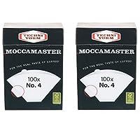 2x Moccamaster Filter No. 4(100Filter Bags Each) Technivorm