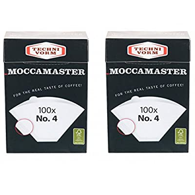 2 x Moccamaster Filter No. 4 (100 Filter Bags Each) Technivorm