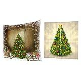 Fenteer Coperta in Pile A Tema Natale 80x150cm con Tendina per Xmas Deco