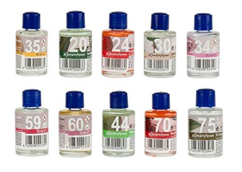 Casa de los aromas Huile Essentielle lot 10 SENTEURS 150ml AROMES pour diffuseur Jasmin