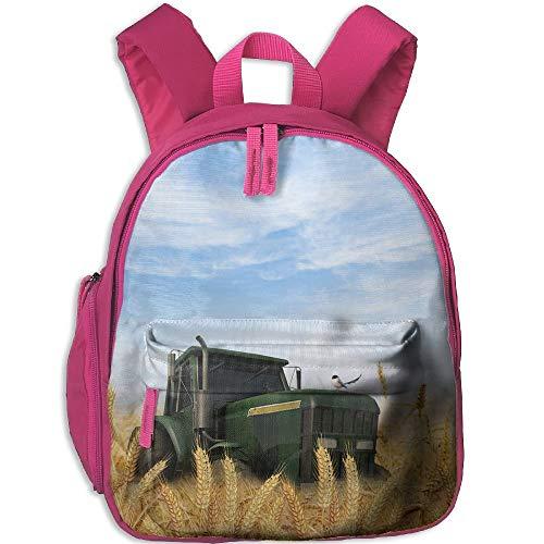 Kindergarten Boys Girls Backpack Tractor School Bag