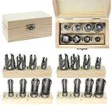 Spares2go contatore bored hole Plug cutter drill bit set (16pezzi, 3/20,3cm codolo)