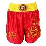 Sharplace Pantalones Corto Deportivo Boxeo Sanda Taekwondo Pretina Elástica Calzoncillos Ropa Cómoda - rojo, METRO