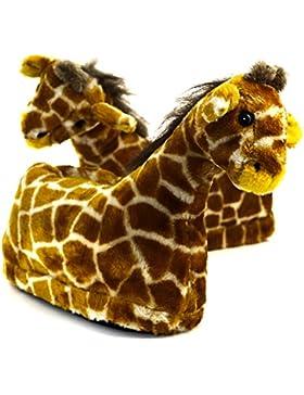 Sleeper'z Rutschfeste Plüsch-Hausschuhe Giraffe