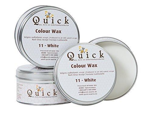 Quick Weiße und Graue Kreidewachs oder Kalkwachs - Finish für KreideFarbe (Weiß oder White, 375...