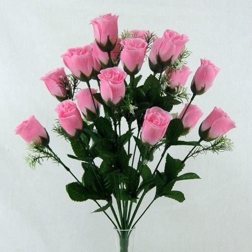 A1-Homes - Schöne Rosa Künstliche Rosen Strauss/Bouquet Mit 18 Blüten - Heim Hochzeit Jahrestag Grab