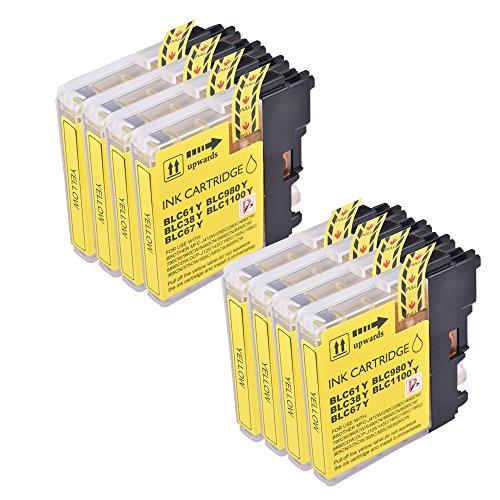 8gelb kompatibel Tintenpatrone ersetzen LC1100LC980LC 1100LC 980Für Brother MFC-250C 255CW 290C 295CN 297C 790CW 490CN MFC-5490CN MFC-5890CN MFC-795CW MFC-6490CW MFC-6890CDW MFC-990CW DCP-145C DCP-163C 165C DCP-167C DCP-185C DCP-195C DCP-365CN 373CW DC