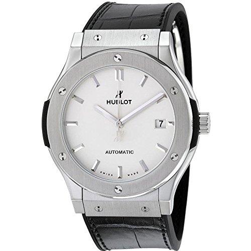 hublot-homme-45mm-bracelet-cuir-noir-boitier-titane-automatique-cadran-argent-montre-511nx2611lr
