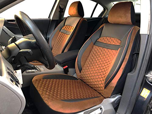 Sitzbezüge k-maniac | Universal schwarz-braun | Autositzbezüge Set Vordersitze | Autozubehör Innenraum | Auto Zubehör Kunstleder | V2009736 | Kfz Tuning | Sitzbezug | Sitzschoner
