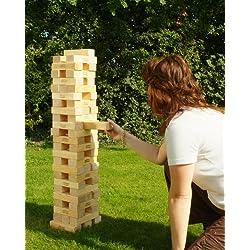 Traditional Garden Games. Torre gigante de bloques de madera para el jardín
