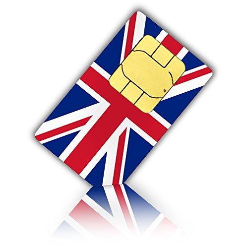 SIM Karte für Großbritannien, England, Schottland, Nord Irland + 3GB mobiles Internet - 30 Tage - Standard & Micro SIM (Sim-karte Für Großbritannien)