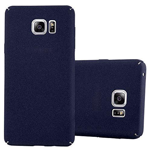 Preisvergleich Produktbild Cadorabo Hülle für Samsung Galaxy Note 5 - Hülle in Frosty BLAU – Hardcase Handyhülle im matten Frosty Design - Schutzhülle Bumper Back Case Cover