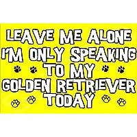 Déjame en paz sólo voy a hablar con mi perro Golden Retriever hoy - Jumbo de imán/regalo