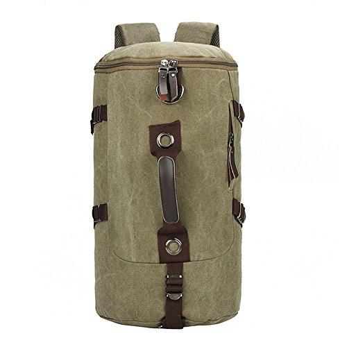 borsa di tela portatile appassionati di outdoor Man Boy zaino trekking zaino da campeggio zaino zaino di corsa esterna (35L) (Black) Green