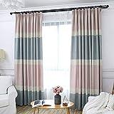 Schlafzimmer Blackout Vorhänge, Einfache gestreifte Leinenwebung Privatsphäre schützen Wohnzimmer Fensterbehandlungen Mode & Dekoration Vorhänge 1 Stück 150x270cm