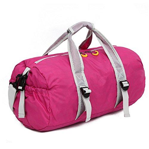 ZYPMM Herren Outdoor Tasche faltbare Reisetaschen große Kapazität Umhängetasche weibliche Fitness-Seesack Rosa
