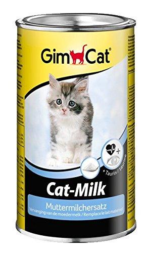 GimCat Cat-Milk, Vitamin- und nährstoffreiche Katzenmilch als Muttermilch-Ersatz für Katzen, mit Taurin und Calcium, 1 Dose (1x 200 g)