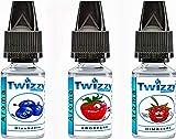 3 x 10ml Twizzy Berry Aroma Bundle | Blaubeere, Erdbeere, Himbeere | Aroma für Shakes, Backen, Cocktails, Eis | Aroma für Dampf Liquid und E-Shishas | Ohne Nikotin 0,0mg | Flav Drops