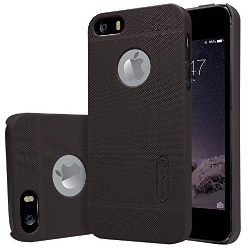 Meimeiwu Alta qualità Super Matte Shield Custodia Case smart Cover + 1 Pellicola Protettiva per iPhone 7 Bianco Marrone