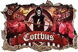 Ultras Cottbus, 3D Wandsticker Format: 92x62cm, Wanddekoration