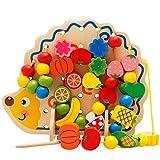 Pädagogisches Spielzeug Blocks 3 bis 6 Jahre alt Kinder profitieren Intelligenz Boy 1 bis 2 Jahre alt Baby Girl Baby montiert 7-8 Jahre alt Holzspielzeug Geburtstagsgeschenk für Jungen Mädchen