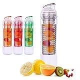 Best Botellas de infusión de frutas Deportes - Zumo de frutas botella de agua con infusor Review