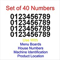 0-0-9 Numbers for Menu Boards - Stickers - Elect Size & Color Easy to Apply and Removable Easy to Apply and Removable