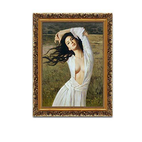 GONGFF Schönheitsdekorationanstrichkörperkunstschönheitssalonhotelhotelwandflurgang-Badezimmerbadezimmer Wasserdichte Malerei,40 * 50cm
