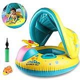 Joylink Baby Pool Float, Gonfiabile Piscina per Bambino Galleggiante Anello per Il Nuoto Sedile Regolabile per l'inflazione Camere Anello per Il Nuoto (6-36 Mesi)