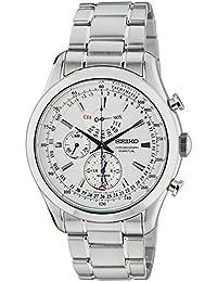 Seiko–SPC123P1 –Herren Armbanduhr – Quarz-Chronograph–graues Zifferblatt–graues Stahl-Uhrband