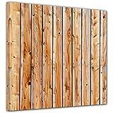 """Bilderdepot24 Cuadros en Lienzo """"Tablones de madera"""" 20x20 cm - listo tensa, directamente desde el fabricante"""