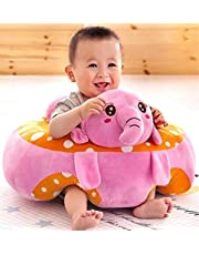 DearJoy Cotton Toddlers' Training Seat Baby Safety Sofa Dining Chair Learn to Sit Stool (Elephant Sofa)