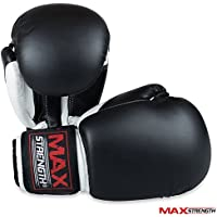 Max Strength Boxing Gloves 10z Synthetic Leather Sparring Training Gloves