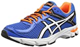 Asics Gt-1000 4 GS - Zapatillas de Correr Unisex, Color Azul (Electric Blue/White/Orange 3901), Talla 38 EU (4.5 UK)