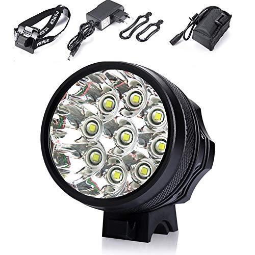 Light Bicycle Front Led Bicycle Track Lights Bicycle Led Lamp Waterproof 10000LM 9 X CREE XM-L T6 with Battery and Charger Black
