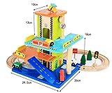 Holz Track Car mehrstöckigen Sar Park Spielzeug Modell Boy Geschenk montiert Rail Car Set Spielzeug