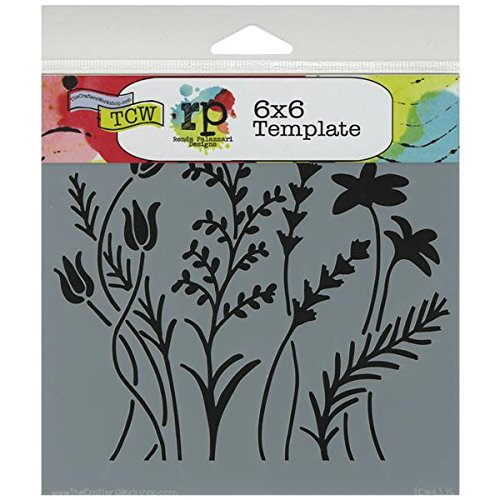 the-crafters-workshop-6-x-6-inch-wildflowers-stencil-black-white