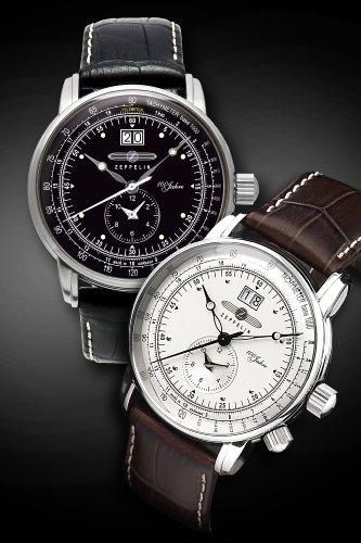 Zeppelin Men's Quartz Watch 100 Jahre Zeppelin 76402 with Leather Strap