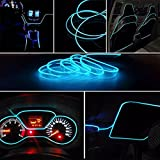 Kalaram Ice Blue EL Wire Car Interior Light Ambient Neon Light for Maruti