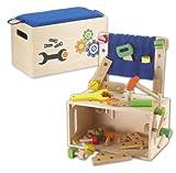 KidsToy Giocattoli creativi legno costruzioni ferrovia cucina gioco banco da lavoro didattico - Legno, Banco da lavoro