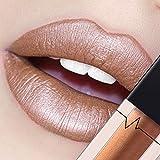 CICIYONER Damen Metall Lippenstift Lip Gloss Liquid Lippe Kosmetik, 24 Farben (10 #)