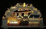 Großer LED 3D Räucher-Lok Schwibbogen Zugfahrt durch das Erzgebirge