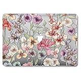 GMYLE MacBook Air 13 Hülle - Hochwertige Matt Gummierte Hartschale Tasche Schutzhülle Snap Case für Apple MacBook Air 13.3 Zoll (A1466 / A1369), Floral Garten