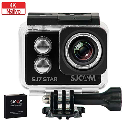 SJCAM SJ7Star,Fotocamera sportiva 4K, WiFi, 16MP, Schermo Touch 2.0, Superview, subacquea 30M, colore: Nero