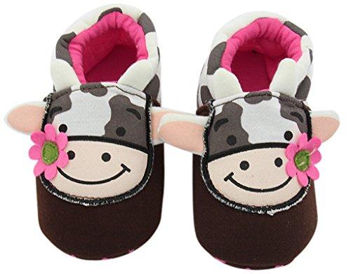 BONAMART Baby Mädchen Jungen Schuhe Pantoffeln BabySchuhe Für 0-24 Monaten Kuh